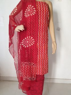 Printed Cotton Suits With Chiffon Dupatta 13