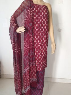 Printed Cotton Suits With Chiffon Dupatta 14