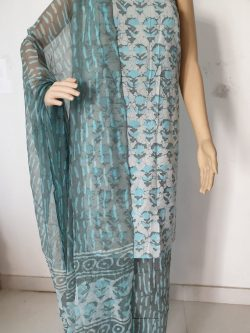 Printed Cotton Suits With Chiffon Dupatta 2
