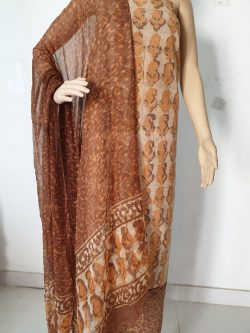 Printed Cotton Suits With Chiffon Dupatta 3