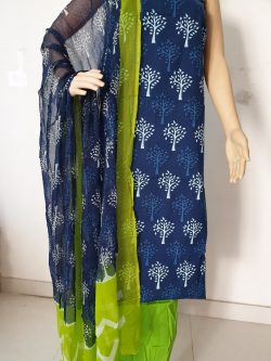 Printed Cotton Suits With Chiffon Dupatta 4