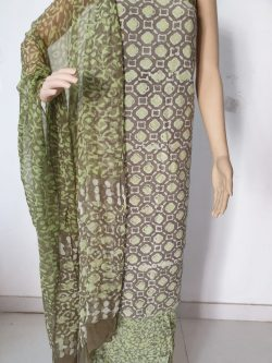 Printed Cotton Suits With Chiffon Dupatta 6
