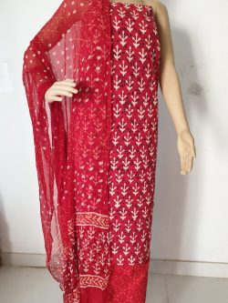 Printed Cotton Suits With Chiffon Dupatta 7