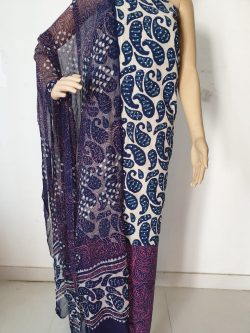 Printed Cotton Suits With Chiffon Dupatta 9