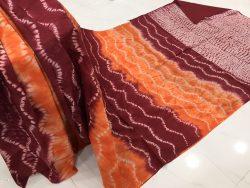 Traditional Shibori Soft Cotton Mulmul Saree (114)
