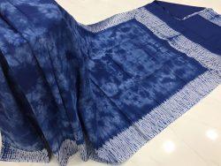 Traditional Shibori Soft Cotton Mulmul Saree (119)