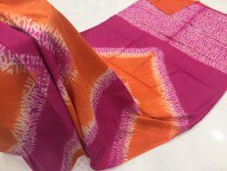 Traditional Shibori Soft Cotton Mulmul Saree (122)