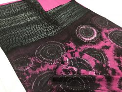 Traditional Shibori Soft Cotton Mulmul Saree (139)
