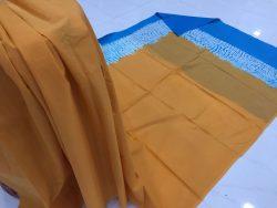 Traditional Shibori Soft Cotton Mulmul Saree (145)