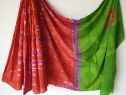 Traditional Shibori Soft Cotton Mulmul Saree (160)