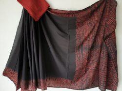 Traditional Shibori Soft Cotton Mulmul Saree (161)