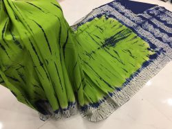Traditional Shibori Soft Cotton Mulmul Saree (59)