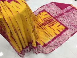Traditional Shibori Soft Cotton Mulmul Saree (63)
