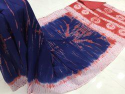 Traditional Shibori Soft Cotton Mulmul Saree (70)
