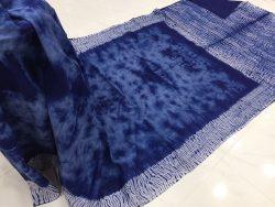 Traditional Shibori Soft Cotton Mulmul Saree (73)