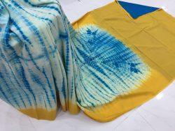 Traditional Shibori Soft Cotton Mulmul Saree (95)