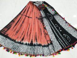 Pompom Cotton Saree 3