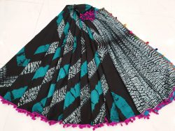 Pompom Cotton Saree 5