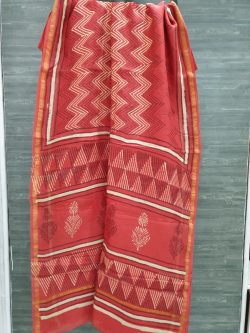 Block Print Chanderi Saree (20)