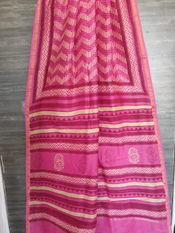 Block Print Chanderi Saree (5)