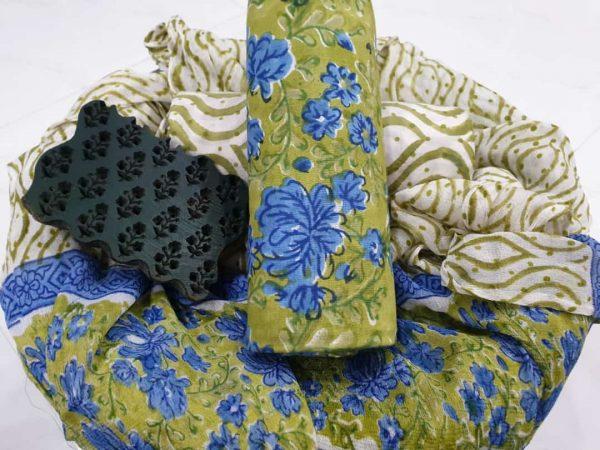 Chiffon Dupatta Cotton Suit (16)