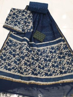 Hand Block Chanderi Suit (2)