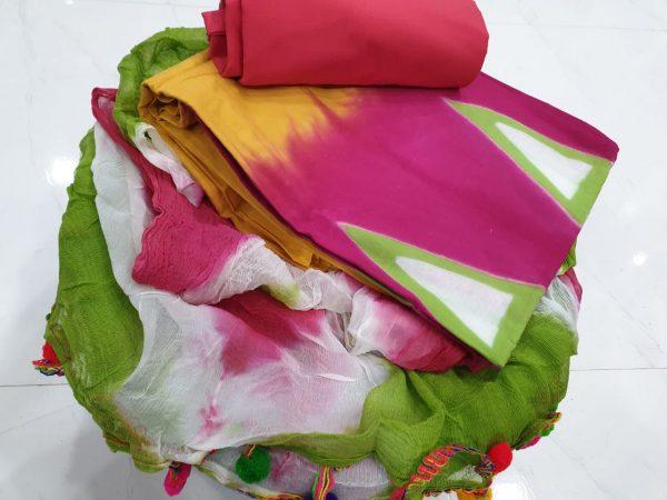 Pompom Cotton Suit Set (2)