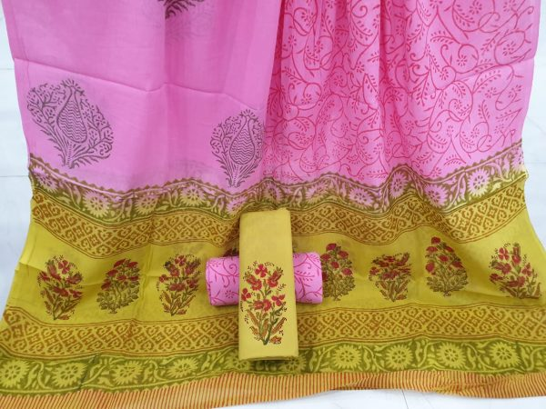 Orchid mughal print printed cotton suits