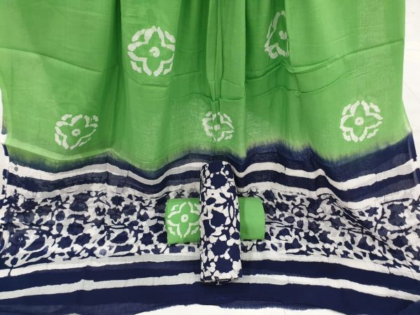 Green cotton suits mughal print