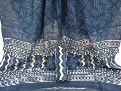Slate gray indigo dabu print printed cotton suits