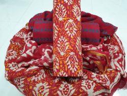 Pure Cotton Suit With Zari Border Pure Chiffon Dupatta (24)