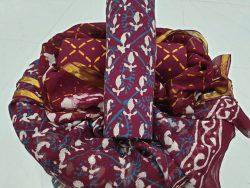 Pure Cotton Suit With Zari Border Pure Chiffon Dupatta (6)