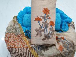 Zari Border Cotton Suit Set (7)