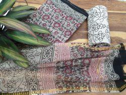 Floral kota doria suit set for summers