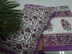 Sanganeri floral print cotton bedsheet for double bed