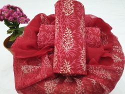 Chiffon Dupatta Cotton Suit (100)