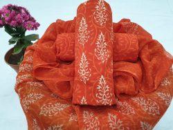 Chiffon Dupatta Cotton Suit (101)