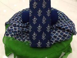 Chiffon Dupatta Cotton Suit (45)
