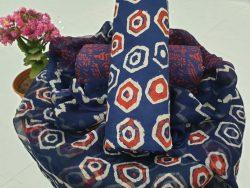 Chiffon Dupatta Cotton Suit (57)