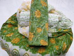 Chiffon dupatta cotton suit color Emerald
