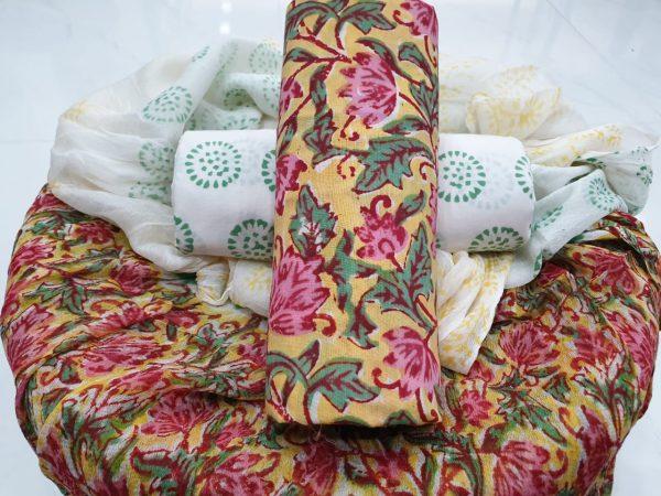 Chiffon Dupatta Cotton Suit (7)