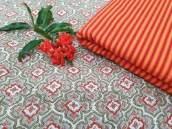 Rapid print cotton running material color silver red