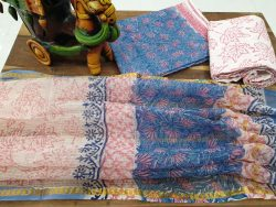 kota doria suit Rapid print color pink blue