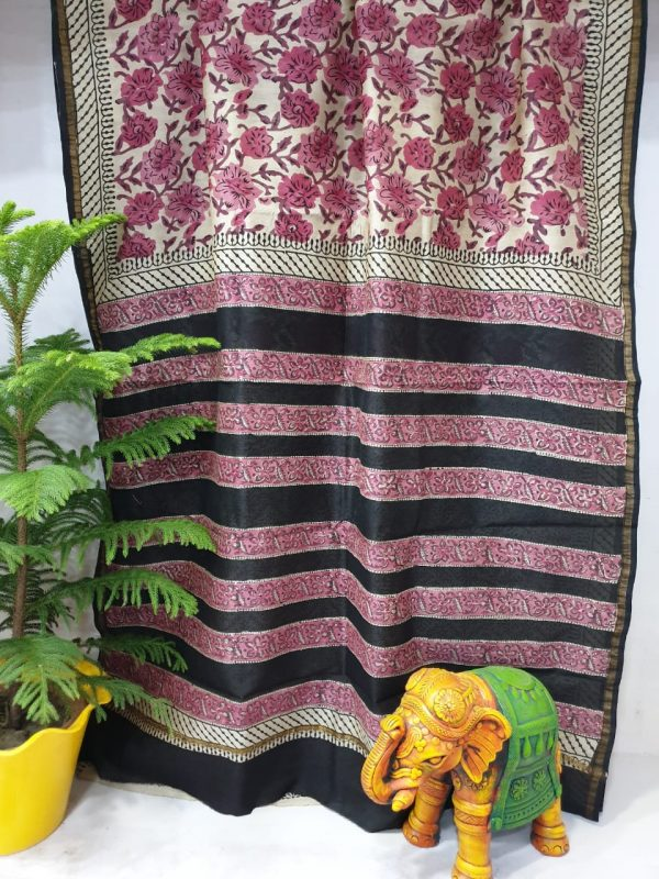 Party Wear Chanderi Saree (11)