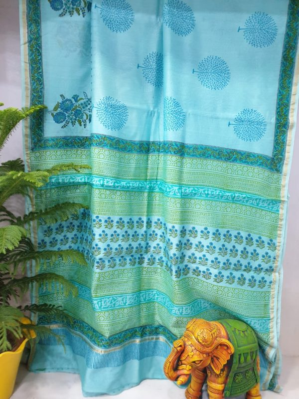 Party Wear Chanderi Saree (7)