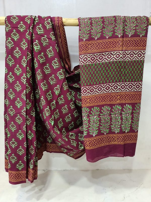 Daily wear Byzantium Cotton mulmul saree Rapid print