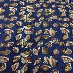 Navy blue Running materiel cotton dress material