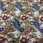 Maroon and Persian blue Running materiel cotton dress material