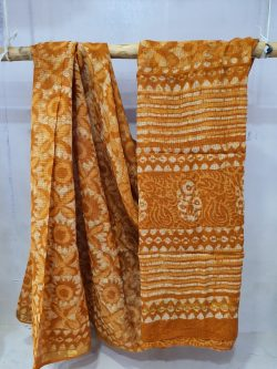 Summer wear Brown Traditional pure kota doria saree with blouse