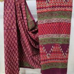 Daily wear Rouge cotton mal mal saree with blouse
